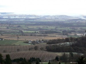 View across Strathearn