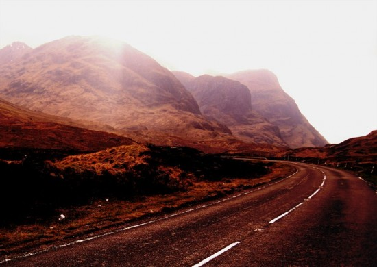 The A82 & the Three Sisters in Glencoe - copyright Holidays in Scotland
